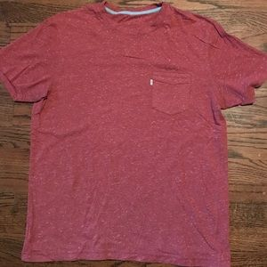 Red Levi's pocket T-shirt